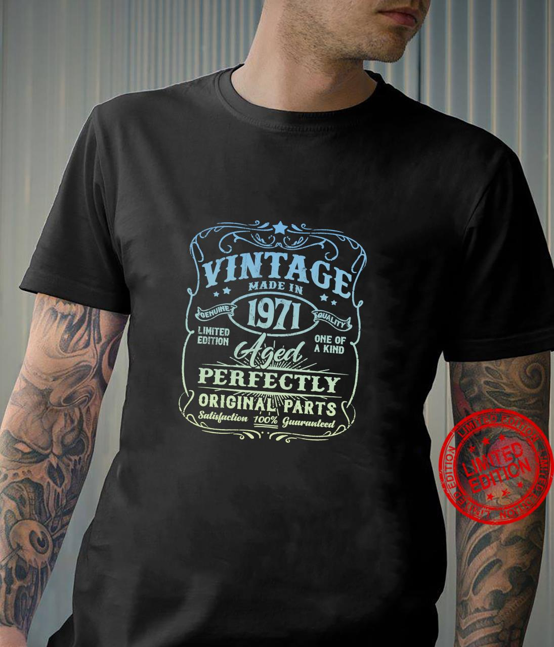 Vintage Made In 1971 Retro Classic 50th Birthday Party Shirt