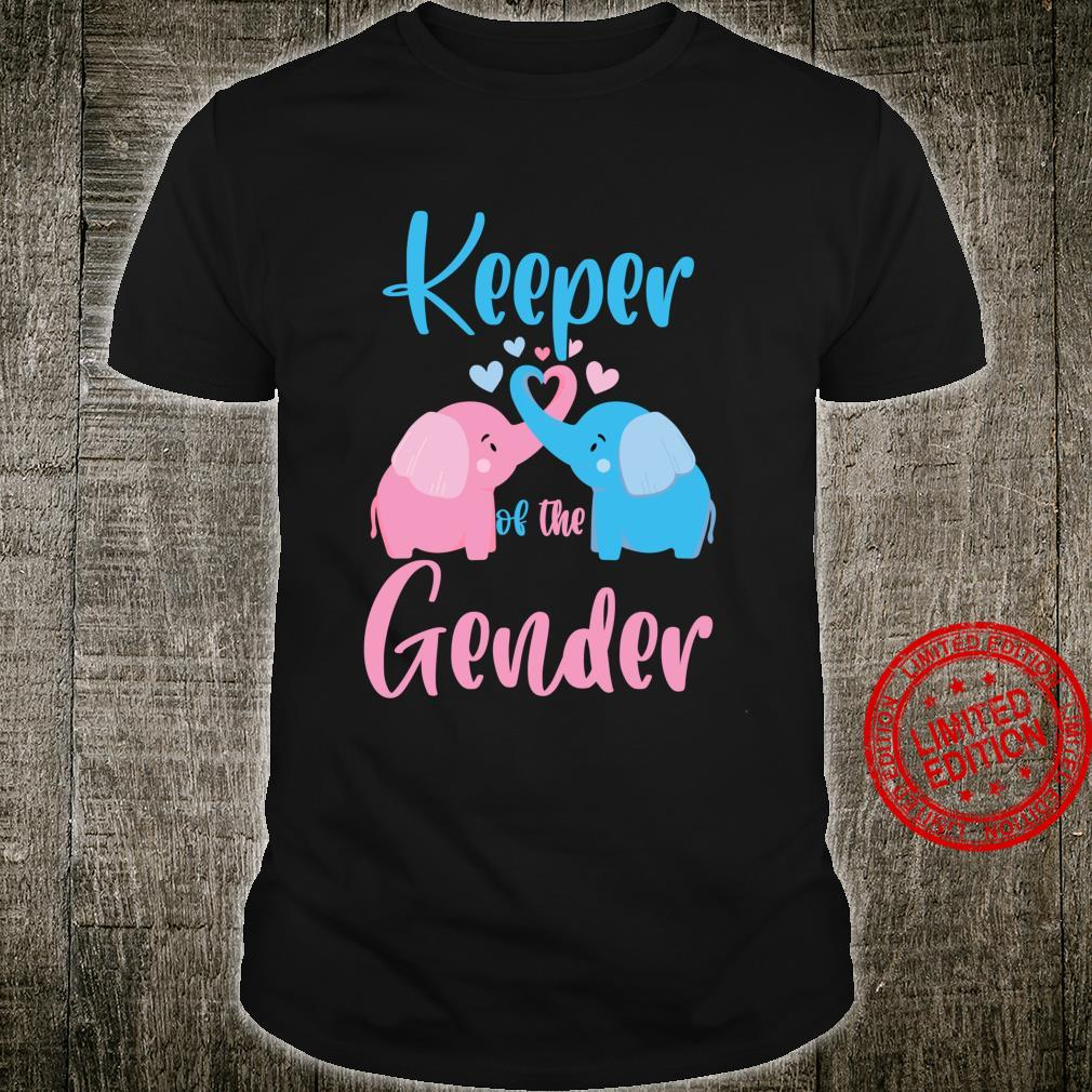 Keeper of the Gender Elephant in blue and pink party idea Shirt