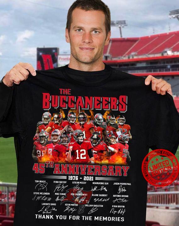 The Buccaneers 45th Anniversary Thank You For The Memories Shirt